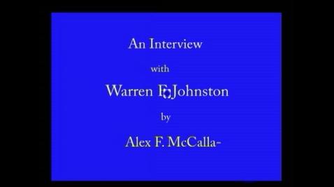 Thumbnail for entry Warren Johnston