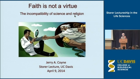Thumbnail for entry Storer Lecture - Jerry Coyne 4-9-14