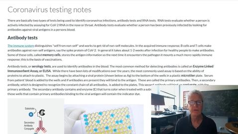 Thumbnail for entry Coronavirus testing