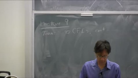 Thumbnail for entry ECS-120 Lecture 09 10-25-12