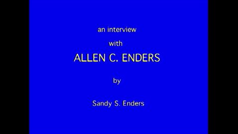 Thumbnail for entry Allen Enders