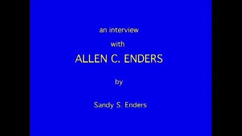 Thumbnail for entry Allen Enders