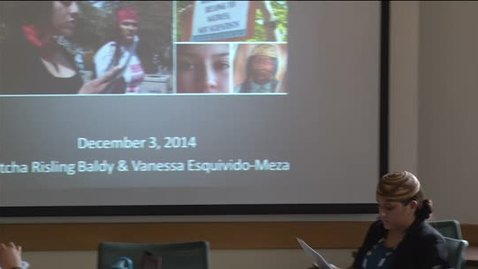 Thumbnail for entry NAS Brown Bag Lecture Series - Fall 2014: Vanessa Esquivido 12-3-14