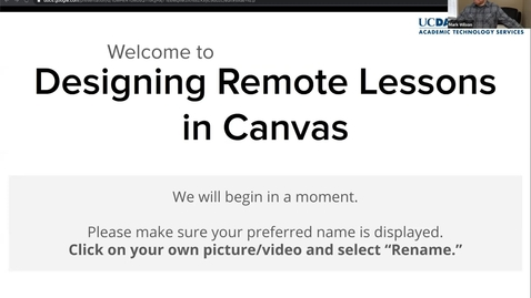 Thumbnail for entry ATS Webinar: Designing Remote Lessons in Canvas