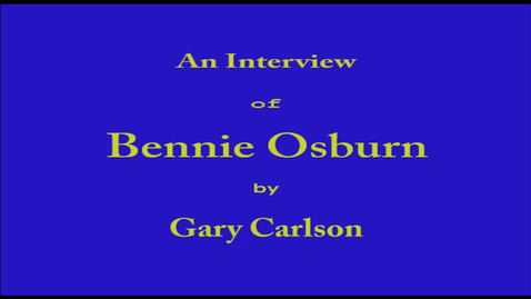 Thumbnail for entry Bennie Osburn