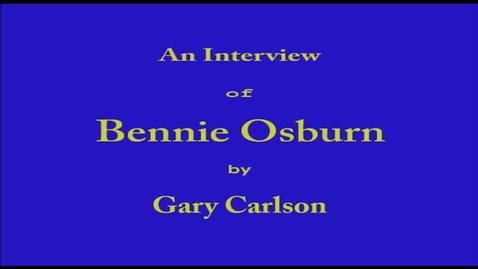 Thumbnail for entry Bennie Osburn