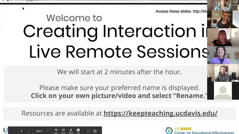 Thumbnail for entry ATS Webinar: Creating Interaction in Live Remote Sessions - April 17, 2020