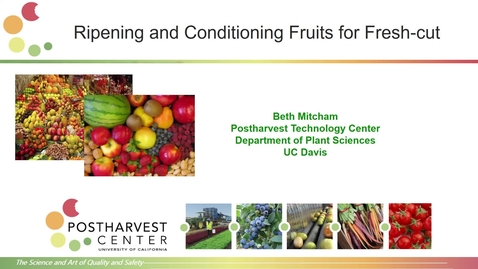 Thumbnail for entry Ripening and conditioning Fruits  for Fresh Cut (Mitcham)