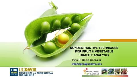 Thumbnail for entry Noninvasive Techniques for Fresh Fruit & Veg. Quality Analysis (Donis-Gonzalez)