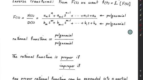Thumbnail for entry Laplace Transform (Part 3): Poles and Zeros