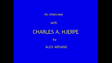 Thumbnail for entry Charles Hjerpe