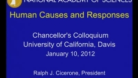 Thumbnail for entry Chancellor's Colloquium - Ralph Cicerone (1-10-12)