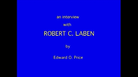 Thumbnail for entry  174 Robert Laben
