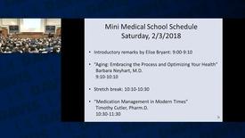 Thumbnail for entry Mini Medical School 2018 Week 1 - 2018-02-03