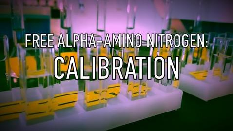 Thumbnail for entry VEN123L Video 5.2 - Free Alpha-Amino Nitrogen - Calibration