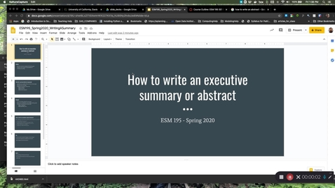 Thumbnail for entry ESM195_Spring2020_WritingAbstracts