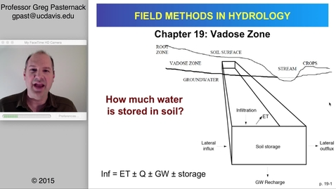 Thumbnail for entry HYD151: Vadose Zone Hydrology