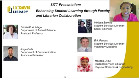 Thumbnail for entry SITT 2020 Faculty Talk - Enhancing Student Learning through Faculty and Librarian Collaboration