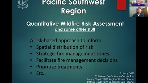 Thumbnail for entry CFSC_UCD Webinar: Wildfire Risk_Mapping, 5/21/20
