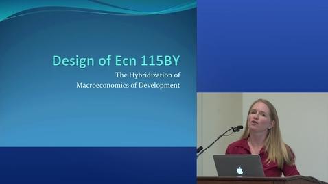 Thumbnail for entry Macroeconomics of Development | 2015 UC Davis Online and Hybrid Learning Showcase