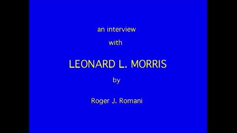 Thumbnail for entry Leonard Morris