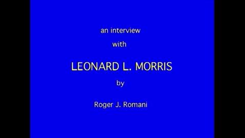 Thumbnail for entry Leonard Morris