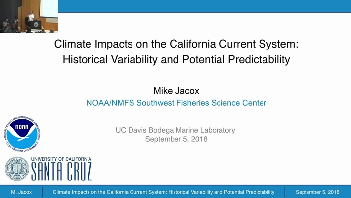BML - Michael Jacox: Climate impacts on the California Current System