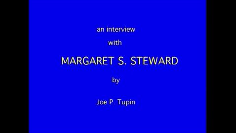 Thumbnail for entry Margaret Steward