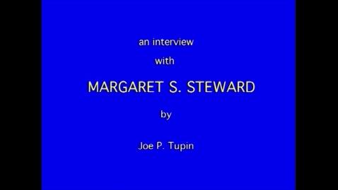Thumbnail for entry Margaret Steward