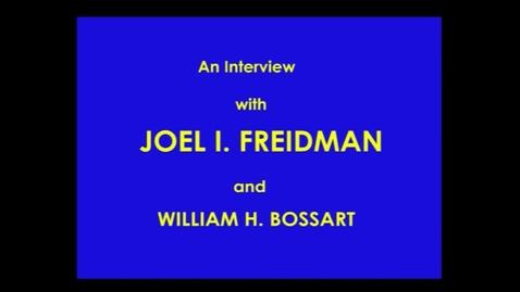 Thumbnail for entry Joel Friedman
