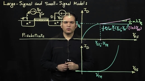 Thumbnail for entry MOS Transistors (Part 8: Large-Signal and Small-Signal Models)