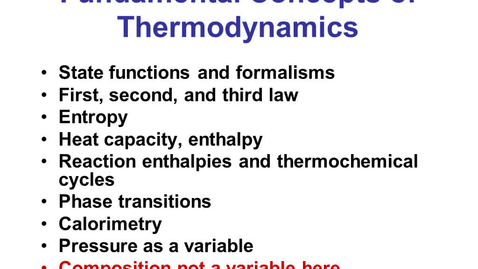 Thumbnail for entry Thermochemistry Crash Course 1a