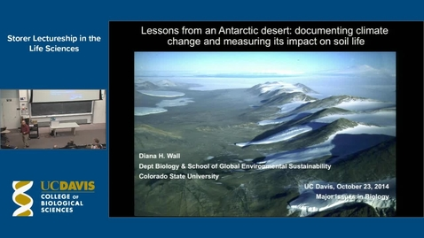 Thumbnail for entry Storer Lecture - Diana Wall 10-23-14