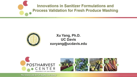 Thumbnail for entry Innovations in Sanitizer Formulations and Process Validation for Fresh Produce Washing (Yang and Nitin)