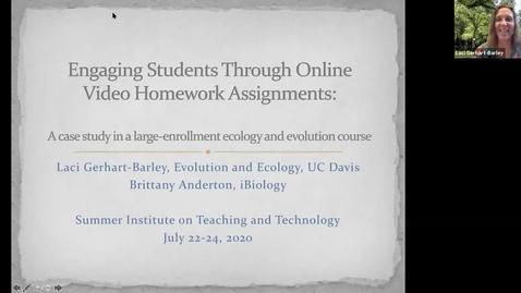 Thumbnail for entry SITT 2020 - Dr. Laci Gerhart-Barley