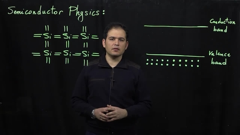 Thumbnail for entry Basics of Semiconductor Physics (Part 2: Electrons and Holes)
