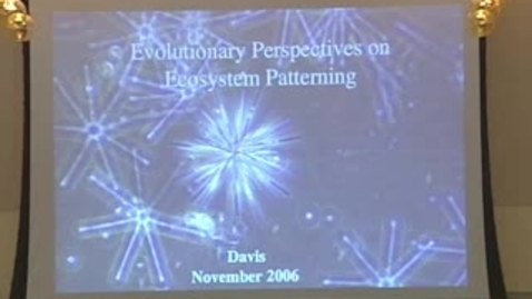 Thumbnail for entry Storer Lecture - Simon A. Levin 12-05-2006