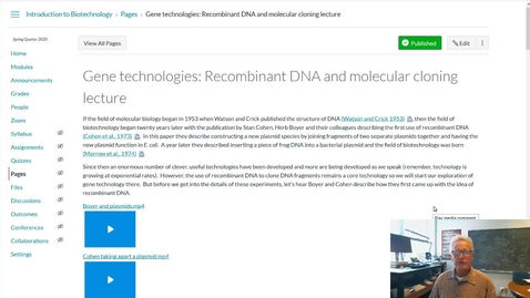 Thumbnail for entry Gene tech: recombinant DNA