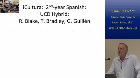 Thumbnail for entry Intermediate Hybrid Spanish | UC Davis 2014 Online and Hybrid Learning Showcase