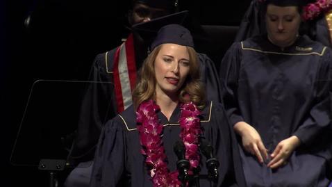 Thumbnail for entry 2018 GSM Student Speaker - Claire Halbrook - June 16, 2018