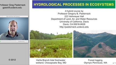 Thumbnail for entry HYD143: Chapter 1- Introduction to Hydrology and Ecology, Part 1