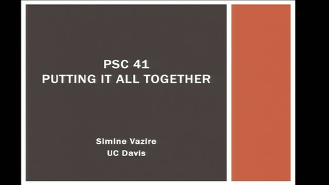 Thumbnail for entry Final Lecture - Intro to Research Methods - Simine Vazire - UC Davis, Fall 2019