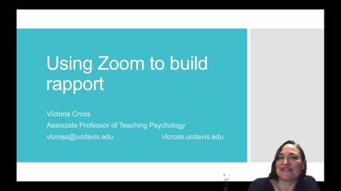 Thumbnail for entry SITT 2020 Faculty Talk - Using Zoom to Build Rapport