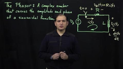 Thumbnail for entry Sinusoidal Response of Circuits (Part 2: Phasor Transform Definition)