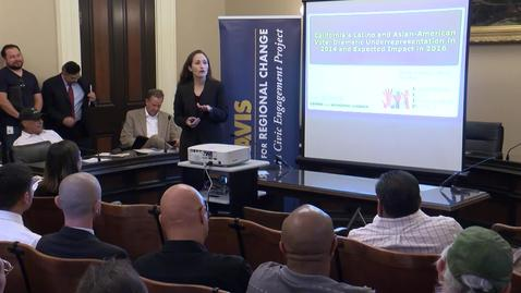 Thumbnail for entry UC Capitol Speaker Series: Mindy Romero 09-29-2015
