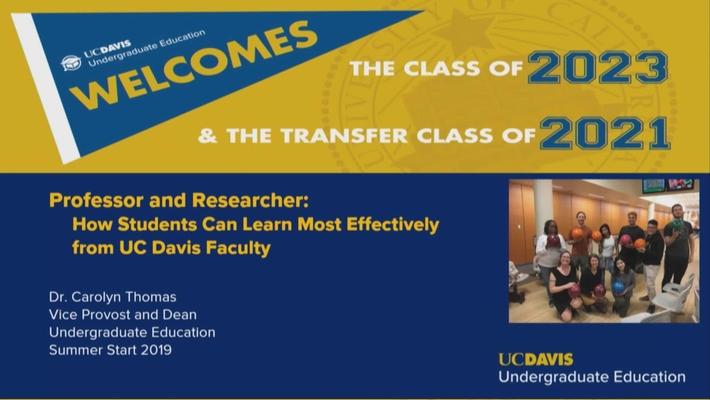 EDU 98 - Guest Lecture - Carolyn Thomas - August 6, 2019