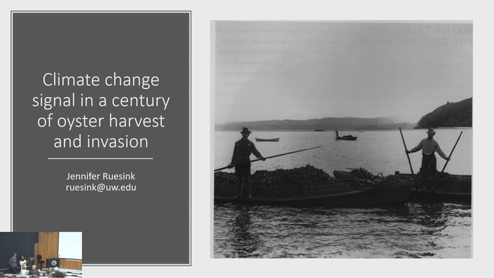 BML - Jennifer Reusink: Climate change signal in a century of oyster harvest and invasion