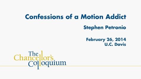 Thumbnail for entry Chancellor's Colloquium - Stephen Petronio (02-26-2014)