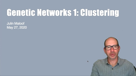 Thumbnail for entry BIS180L Lecture14 Clustering