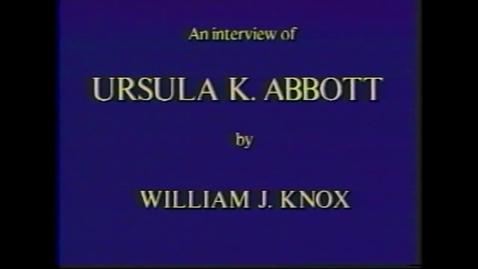 Thumbnail for entry Ursula Abbott